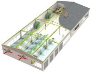 Montaż urządzeń chłodniczych na ścianie budynku