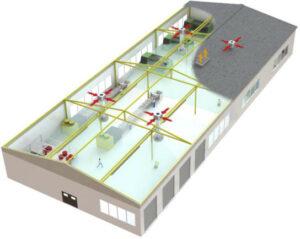 Montaż urządzeń chłodniczych na dachu